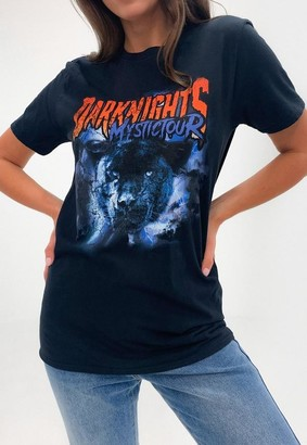 Missguided Dark Nights Panther Graphic T Shirt