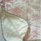 Glenna Jean Isabella Throw Blanket, Pink/Cream by