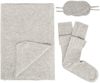 Madeleine Thompson Melange Wool And Cashmere-blend Travel Set
