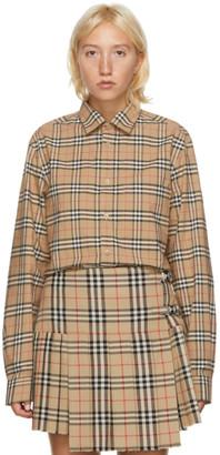 Burberry Beige Vintage Check Simpson Shirt