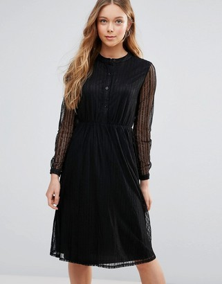 Yumi Lace Shirt Dress