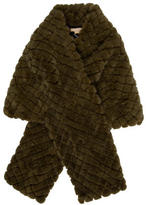Michael Kors Quilted Mink Stole w/ Tags