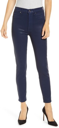 Seven London High Waist Coated Ankle Skinny Jeans