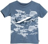 City Threads Heathered Graphic Tee (Baby) - Smurf-12-18 Months