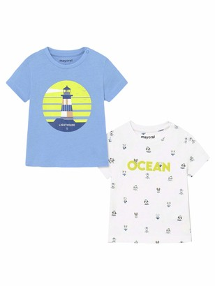 Mayoral 21-01008-016 - s/s 2 pcs Printed t-Shirt Set for Baby-Boys 36 Months Lavender