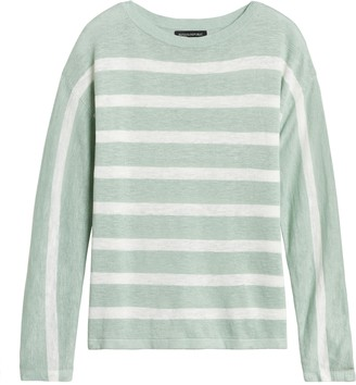 Banana Republic Linen-Blend Stripe Sweater