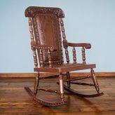 Novica 'Nobility' Cedar and Leather Rocking Chair (Peru)
