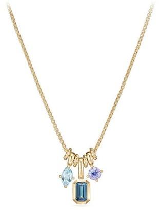 David Yurman Novella Pendant Necklace in 18K Gold