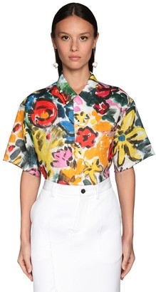 Marni Printed Ramie S/s Shirt