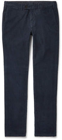 Canali Slim-Fit Stretch-Cotton Corduroy Trousers