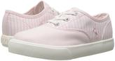 Polo Ralph Lauren Light Pink Stripe Vali Gore Oxford Sneaker - Toddler