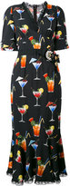 Dolce & Gabbana cocktail print dress - women - Silk/Cotton/Polyamide/Viscose - 46
