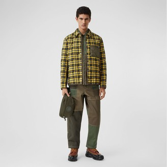 Burberry Check Cotton and Quilted Nylon Overshirt