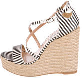 Tabitha Simmons Woven Espadrille Wedges