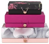 Ted Baker Wild And Wolf X Set Of 3 Citrus Bloom Nesting Storage Boxes - Black