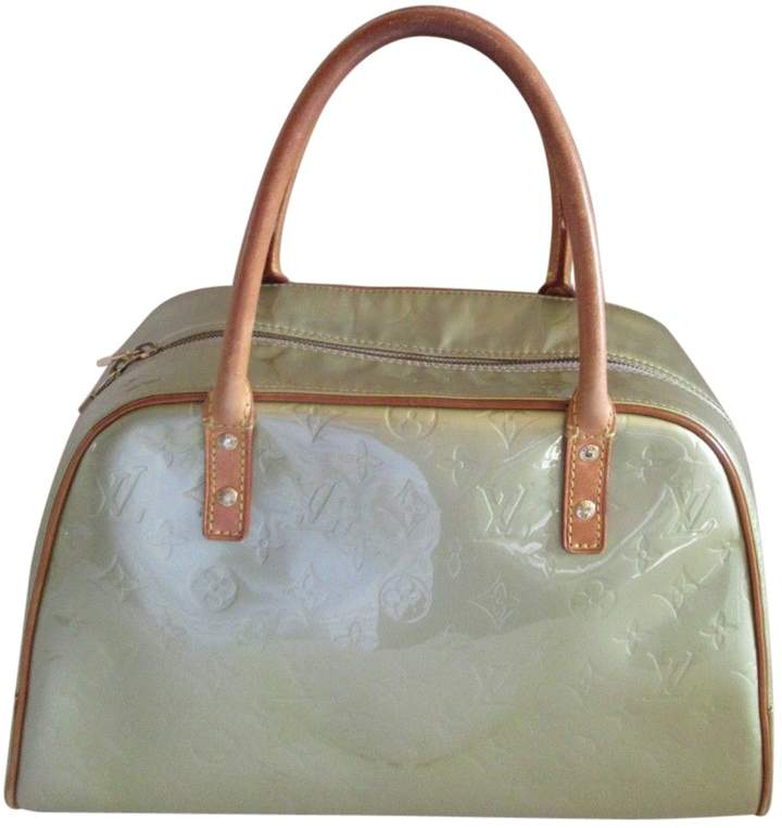 Louis Vuitton Vintage Green Patent leather Handbag
