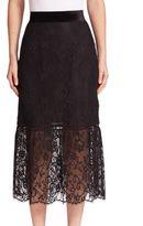 ABS by Allen Schwartz Floral Lace Overlay Skirt