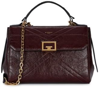 Givenchy ID burgundy medium leather shoulder bag