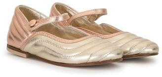 Fendi Kids TEEN ankle strap ballerina shoes