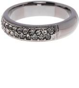 Nadri Black Rhodium Simulated Diamond Embellished Band Ring - Size 6