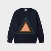 Paul Smith Boys' 2-6 Years Navy 'Triangle' Intarsia Wool-Cotton Sweater
