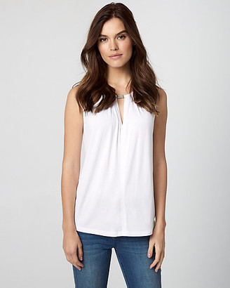 Le Château Jersey Crew Neck Sleeveless Top