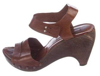 CNC Costume National Leather Studded Sandals