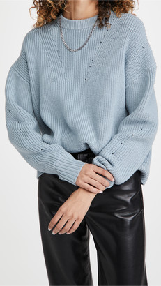 Proenza Schouler White Label Merino Knit Top with Back Slit