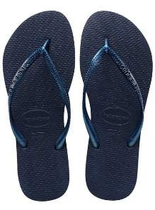 Havaianas Navy Blue Slim Flip Flops - 35/36 - Blue