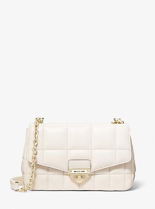 MICHAEL Michael Kors MK Soho Large Quilted Leather Shoulder Bag - Lt Cream - Michael Kors