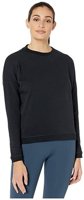 Ryu Tera Relaxed Crew (Deepest Black) Women's Clothing