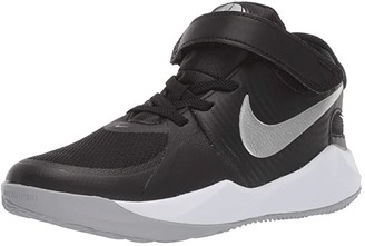 Nike Kids Flyease Team Hustle D 9 (Little Kid) - SINGLE SHOE (Black/Metallic Silver/Wolf Grey) Kid's Shoes