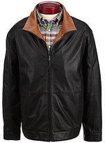 Daniel Cremieux Lightweight Leather Bomber Jacket