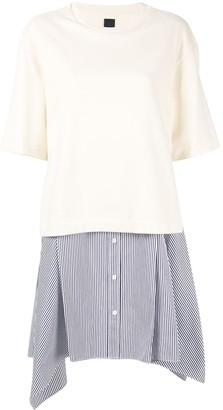 Juun.J Layered Style Asymmetric Dress