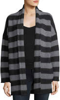 Vince Cashmere Striped Open-Front Cardigan