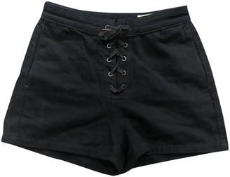 Rag & Bone Black Cotton Shorts for Women