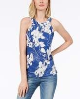 INC International Concepts I.N.C. Textured-Print Keyhole Top, Created for Macy's