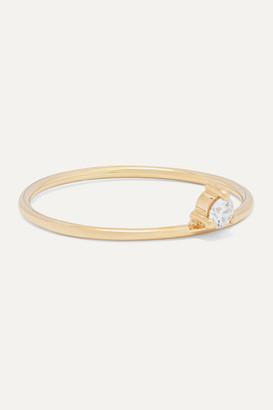 Mizuki Baby Tiara 14-karat Gold Diamond Ring - 6