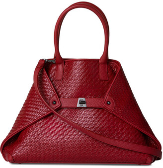 Akris Ai Small Braided Leather Top-Handle Bag