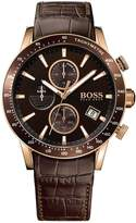 HUGO BOSS Men's 1513392 Leather Leather Analog Quartz Watch