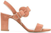 Tabitha Simmons contrast stitch sandals - women - Leather/Suede - 39.5