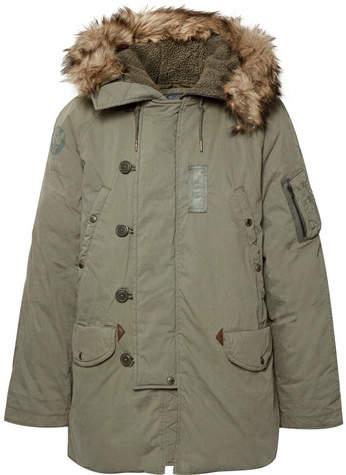Polo Ralph Lauren Faux Fur-Trimmed Cotton-Blend Hooded Down Parka