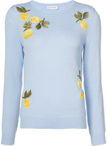Altuzarra pineapple embroidered sweater - women - Merino - XS