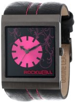 Rockwell Time Unisex MC107 Mercedes Black Leather and Pink Watch