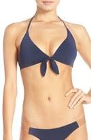 Vix Paula Hermanny Leather Accent Halter Bikini Top