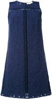 MICHAEL Michael Kors Lenus leopard detail shift dress - women - Cotton/Nylon - 4