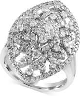 Effy Diamond Oval Ring (1-1/4 ct. t.w.) in 14k White Gold