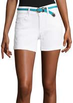 U.S. Polo Assn. 3 1/2 Belted Denim Shorts-Juniors