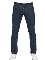DSquared 19cm Corduroy Stretch Denim Effect Jeans