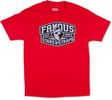 Famous Stars & Straps Men's Knock Out Graphic-Print Logo T-Shirt